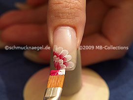 Flachpinsel mit den Acrylfarben