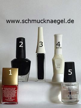 Produkte für das Motiv 'Halloween Friedhof als Fingernagel Dekoration' - Nagellack, Nailart Liner, Nailart Pen