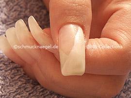 Spot-Swirl und Glitter-Pulver in weiß