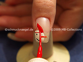 Nail art liner in der Farbe rot