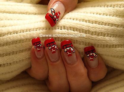 Weihnachtsschlitten als Fingernagel Motiv