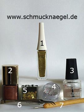 Produkte für das Motiv 'Sterne und Strasssteine für die Fingernägel' - Nailart Liner, Nagellack, Einlegemotive, Strasssteine, Spot-Swirl
