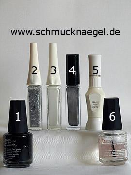 Produkte für das Motiv 'French mit Nailart Pen, Liner und Nagellack' - Nagellack, Nailart Liner, Nailart Pen