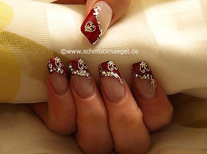 Valentinstag Motiv mit Glitterlack in silber