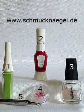 Produkte für das Design 'Fimo Schmetterling für ein Frühlings Motiv' - Nailart Liner, Nailart Pen, Fimo-Tiere
