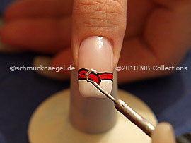 Nailart Liner in der Farbe silber