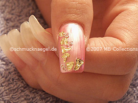 Nailart Bouillons in der Farbe silber