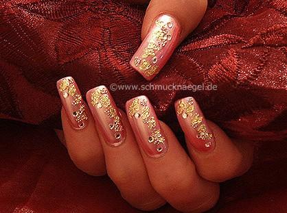 Fullcover in rosa mit Blattgold
