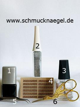 Produkte für das Nailart 'Sticker mit Tigermuster für ein Fingernagel Motiv' - Nagellack, Nailart Liner, Nail Sticker