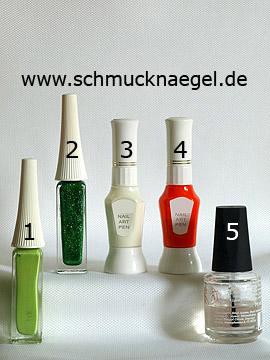 Produkte für das Blumen Motiv mit Nailart Liner und Nailart Pen - Nailart Liner, Nailart Pen