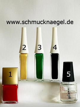 Produkte für das Nailart 'Erdbeeren als Fingernagel Motiv mit Nagellack' - Nagellack, Nailart Liner