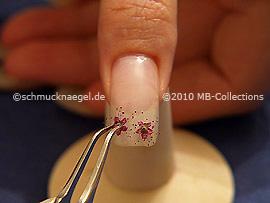 Getrockneten Blumen und die Pinzette