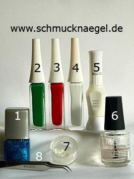 Produkte für das Aquarium Nailart Motiv für die Fingernägel - Nagellack, Nailart Liner, Nailart Pen, Meeres-Muscheln