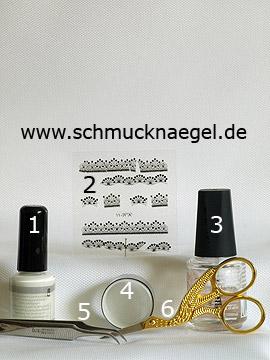 Produkte für das Motiv mit 3D Nailart Sticker und Metallic-Folie - Metallic-Folienkleber, Metallic-Folie, 3D Nail Sticker