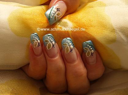 Schmetterling Motiv als Fingernageldesign
