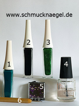 Produkte für das Motiv 'Strasssteine in der Farbe lila für die Fingernägel' - Nailart Liner, Strasssteine, Spot-Swirl