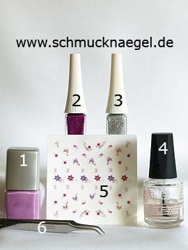 Produkte für das French Fingernagel Design mit Nail Sticker - Nagellack, Nailart Liner, Nail Sticker