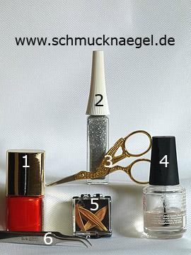 Produkte für das Motiv 'Getrocknete Blätter für das Fingernagel Design' - Nagellack, Nailart Liner, Getrocknete Blütenblätter