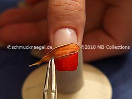 Getrocknetes Blütenblatt und Pinzette