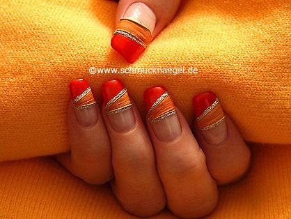 Getrocknete Blätter für das Fingernagel Design