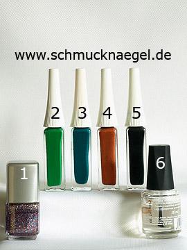Produkte für das Fingernagel Motiv mit multi-glitter - Nagellack, Nailart Liner