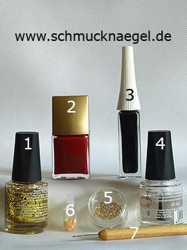 Produkte für das Spinnennetz Halloween Motiv als Dekoration - Glitterlack, Nagellack, Nailart Liner, Strasssteine, Nailart Blumen, Spot-Swirl