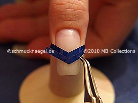 French Maniküre Schablone V-förmig und die Pinzette