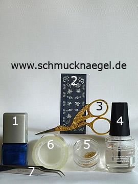 Produkte für das Motiv mit Nailart Perlenkette und Sticker - Nagellack, Nail Sticker, Nailart Perlenkette