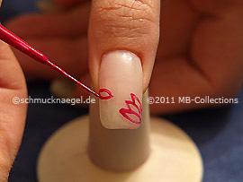 Nailart Liner in der Farbe flieder