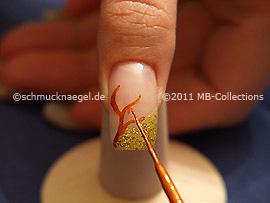 Nailart Liner in der Farbe braun