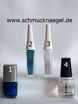 Produkte für das Nailart 'Dekorierte Fingernägel mit einem French Motiv' - Nagellack, Nailart Liner