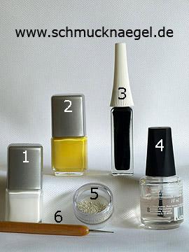 Produkte für das Design für die Nägel mit Nailart Bouillons - Nagellack, Nailart Liner, Nailart Bouillons, Spot-Swirl