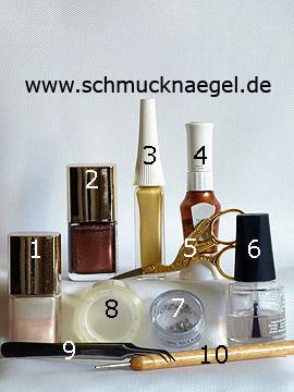 Produkte für das Motiv 'Gestalten mit Nagellack und Strasssteinen' - Nagellack, Nailart Liner, Nailart Pen, Strasssteine, Spot-Swirl