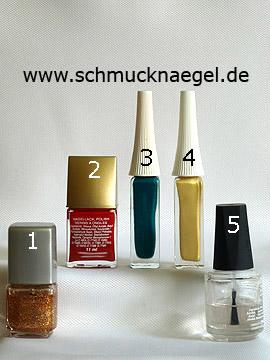 Produkte für das Motiv 'Erdbeerstrauch als Fingernagel Design' - Nagellack, Nailart Liner