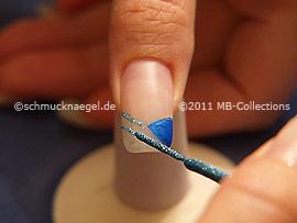 Nailart Liner in der Farbe türkis-glitter