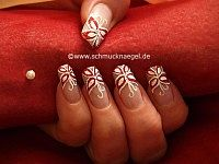 Schmetterling Motiv mit Glitter-Lack in rot