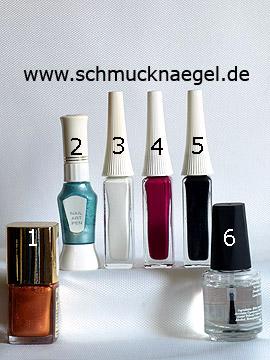 Produkte für das Design 'Sonnenschirm als Fingernagel Motiv' - Nagellack, Nailart Liner