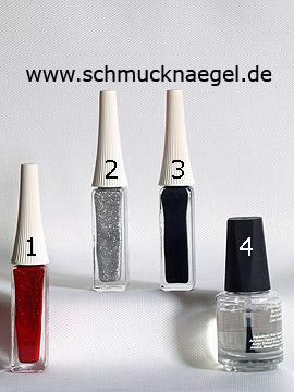Produkte für das Glitter Motiv für die Fingernägel - Nailart Liner