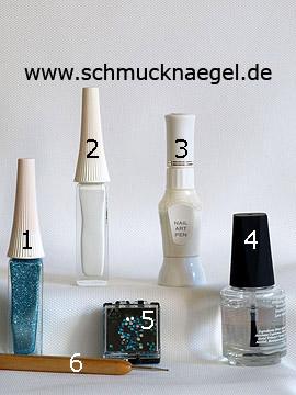 Produkte für das Motiv 'Elegante Fingernägel mit Strasssteinen' - Nailart Liner, Nailart Pen, Strasssteine, Spot-Swirl