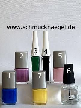Produkte für das Design mit Mosaik als Fingernagel Motiv mit Nagellacken - Nagellack, Nailart Liner