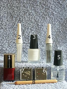 Produkte für das Motiv Party Nägel - Nagellack, Strasssteine, Nailart Liner, Spot-Swirl, Klarlack