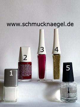 Produkte für das Motiv mit Weihnachtskugel als Fingernagel Dekoration - Nagellack, Nailart Liner