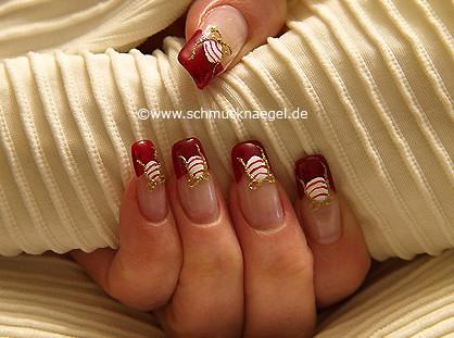 Weihnachtskugel als Fingernagel Dekoration