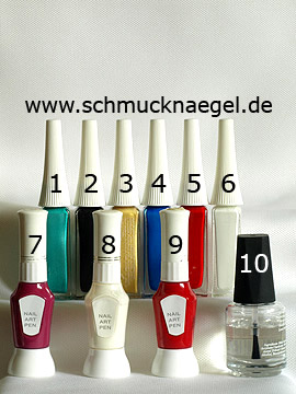 Produkte für das Motiv 'Karnevalsmütze als Fingernagel Dekoration' - Nailart Liner, Nailart Pen