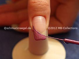 Nailart Liner in der Farbe lila-glitter