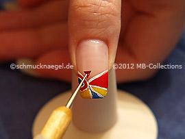 Dreieckiger Strassstein und Spot-Swirl