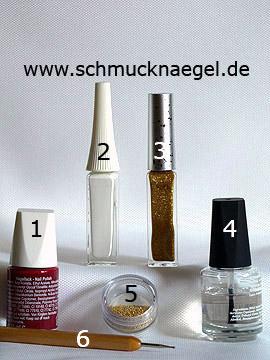 Produkte für das Ostermotiv mit Nailart Bouillons - Nagellack, Nailart Liner, Nailart Bouillons, Spot-Swirl
