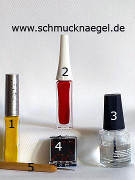 Produkte für das Motiv 'Sternförmige Strasssteine und Nailart Liner' - Nailart Liner, Strasssteine, Spot-Swirl