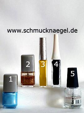 Produkte für das Sommer Strand Motiv mit Nailart Liner - Nagellack, Nailart Liner