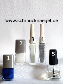 Produkte für das Maritim Fingernagel Design mit Nagellacken - Nagellack, Nailart Liner